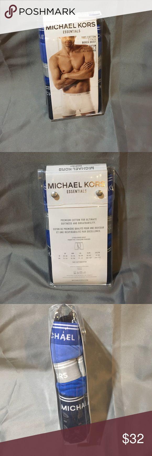 NWT Michael Kors Essentials Boxer Brief 3 pack NWT Michael Kors Essentials Boxer Brief 3 pack. Blue and black. Michael Kors Underwear & Socks Boxer Briefs