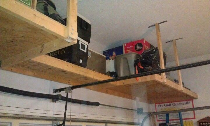 View from left side.  Shelf extends entire width of garage.