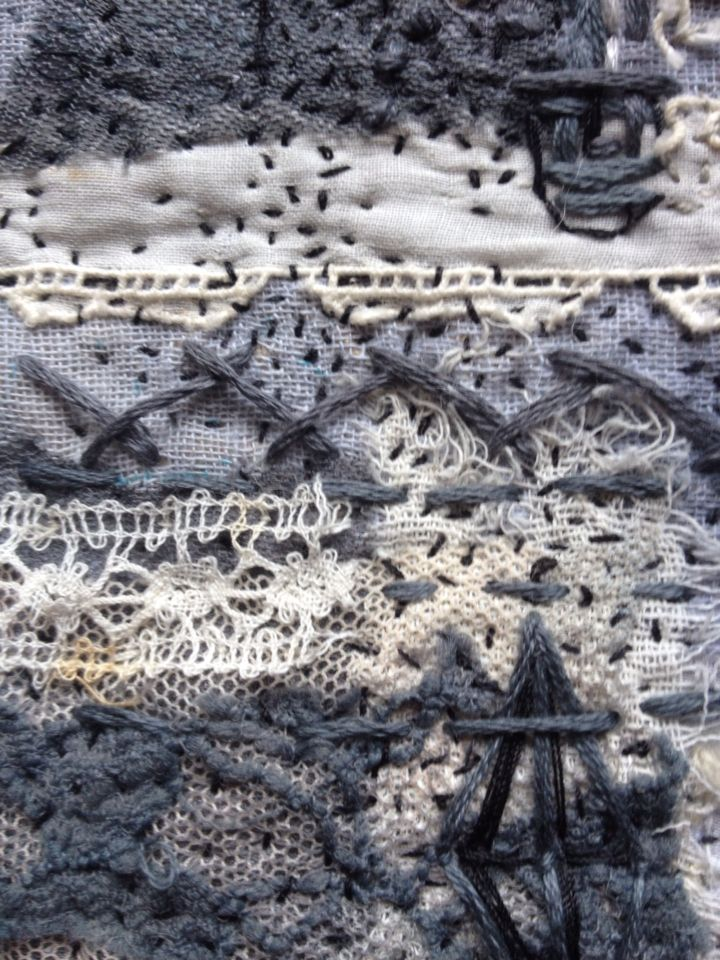 Section- work in progress Laura Edgar #hand embroidery