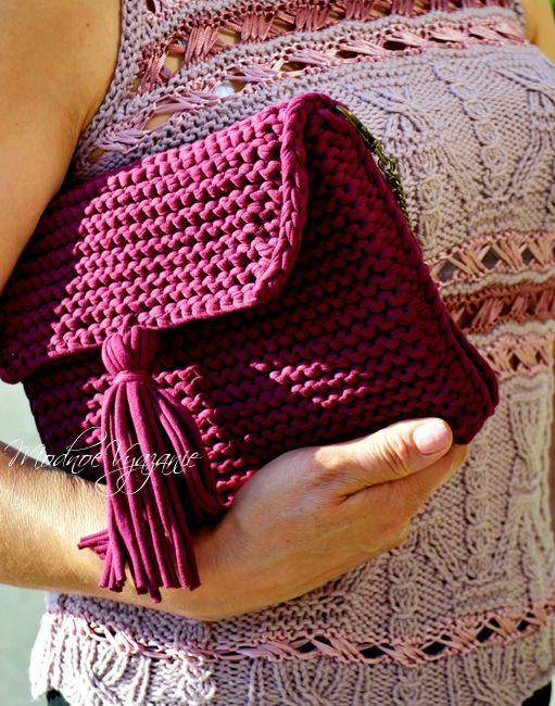 Клатч спицами трикотажными нитками - Модное вязание