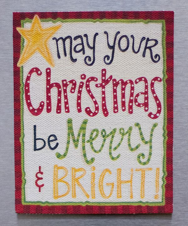 Look at this 'Merry & Bright' Magnet on #zulily today!