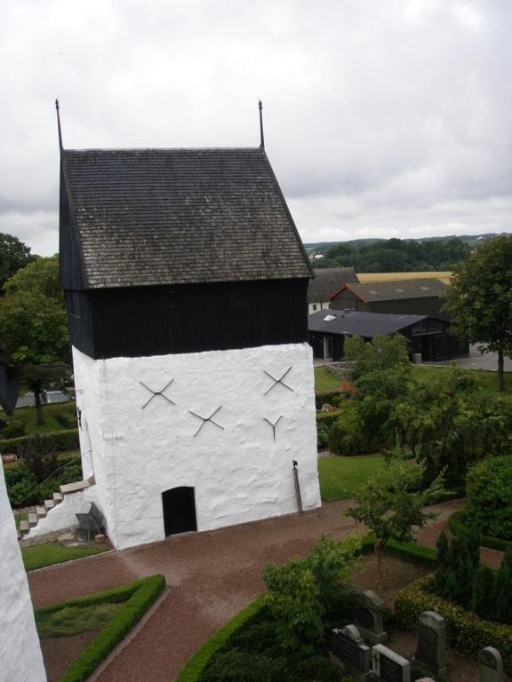 The armoury at Østerlars round church on Bornholm, Denmark
