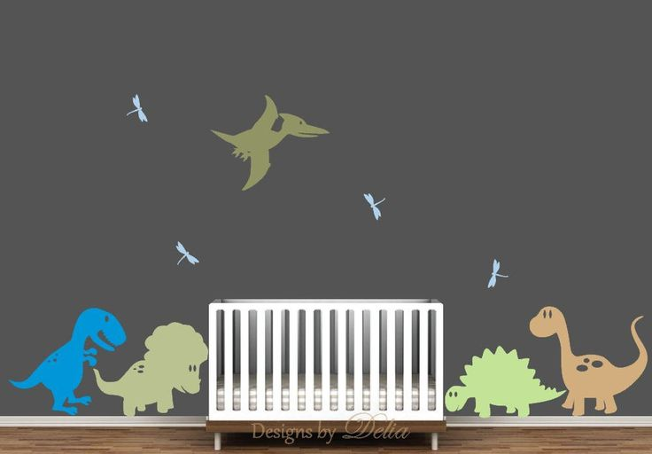 Nursery Decals with Dinosaur Mural