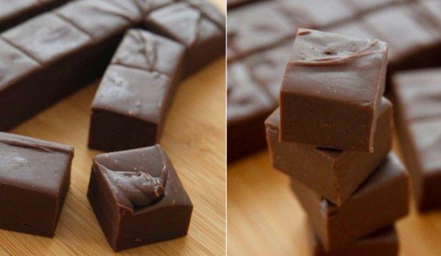 Delikátní čokoládové kostičky ze 3 ingrediencí