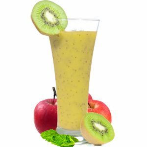 Kiwi Fruit Pineapple Smoothie with Apple & Mint - This kiwi fruit pineapple smoothie with apple and mint is just lovely as a breakfast smoothie or as a refreshing pick-me-up throughout the day.