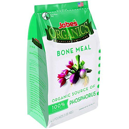 Jobes Organics Bone Meal Fertilizer 2140 Organic Phosphorous Fertilizer for Vegetables Tubers Flowers and Bulbs 6 pound bag