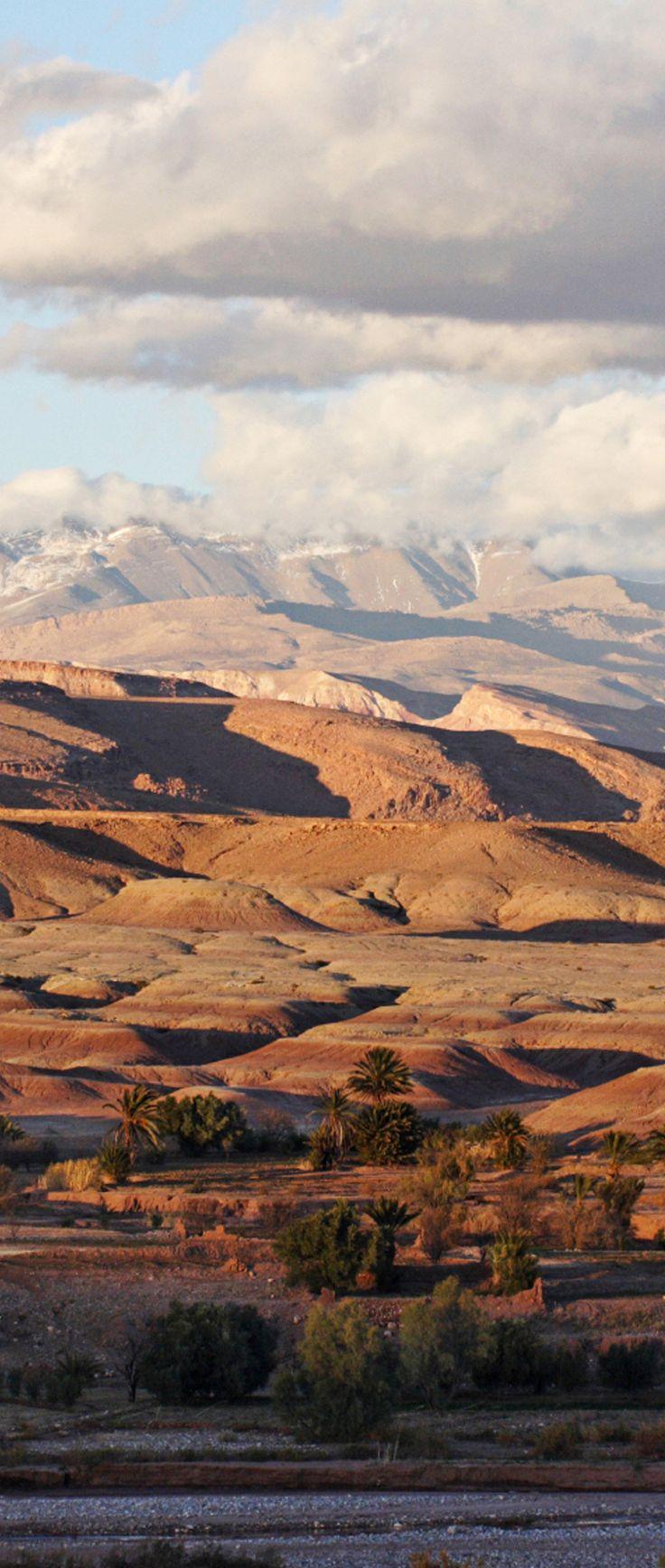 Explore the Atlas Mountains in Morocco.