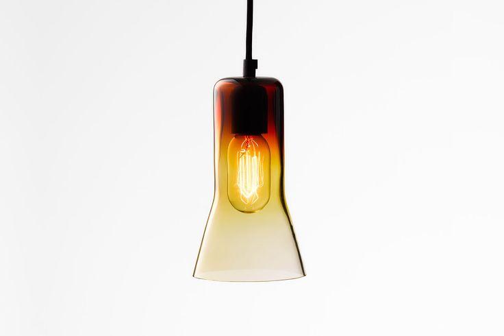 Ross Gardam   Touch pendant in amber glass   Daily Imprint Interview + More Images http://www.dailyimprint.net/2015/09/designer-ross-gardam.html
