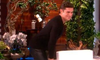 Zac Efron dança e provoca Ellen DeGeneres durante programa