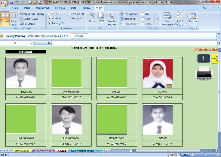 [.xls otomatis] Software Denah Duduk Plus Foto Aplikasi Excel Free Download