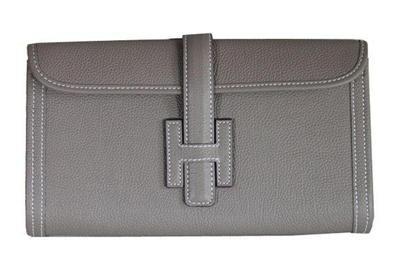 Hermes >  Hermes Clutch Bags >  Newest 2012 Hermes Jige Clutch Bag Togo Leather Grey Replica