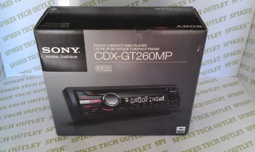Sony CDXGT260MP Car Stereo CD Receiver by Sony. $59.54. Enjoy listening to MP3/WMA files on CD or directly from your iPod or Walkmanplayer plugged in to the front aux input of your Sony CDX‐GT260MP car stereoreceiver. Plus, experience great sound quality from the built‐in equalizer andpowerful 52x4 watt high power amplifier.