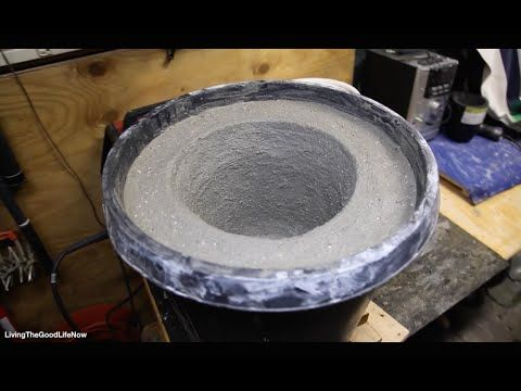 How to make a Large $50 Mini Homemade Metal Foundry Furnace Forge propane or charcoal DIY pt.1 - YouTube