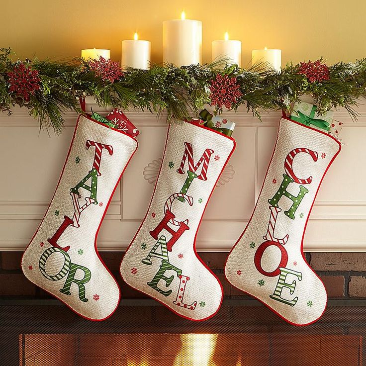 During Christmastime, kids and adults will love seeing their name in dancing, prancing letters.
