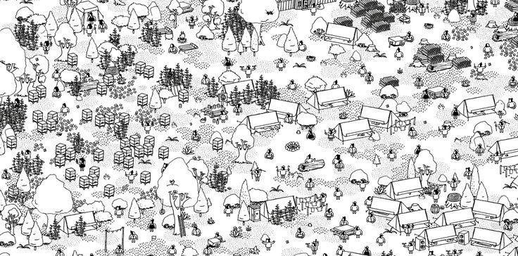 Hidden Folks - In-Game Screenshot - Camping Level