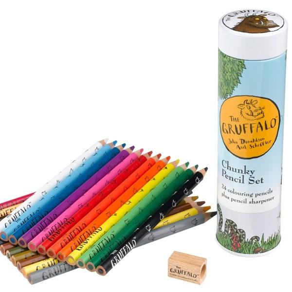 Gruffalo chunky pencil set: Chunky Pencil, Gruffalo Chunky, Pencil Sets, Pencil Tins, Colors Pencil, Gruffalo Pencils, Gruffalo Jumbo, Products, Jumbo Pencils