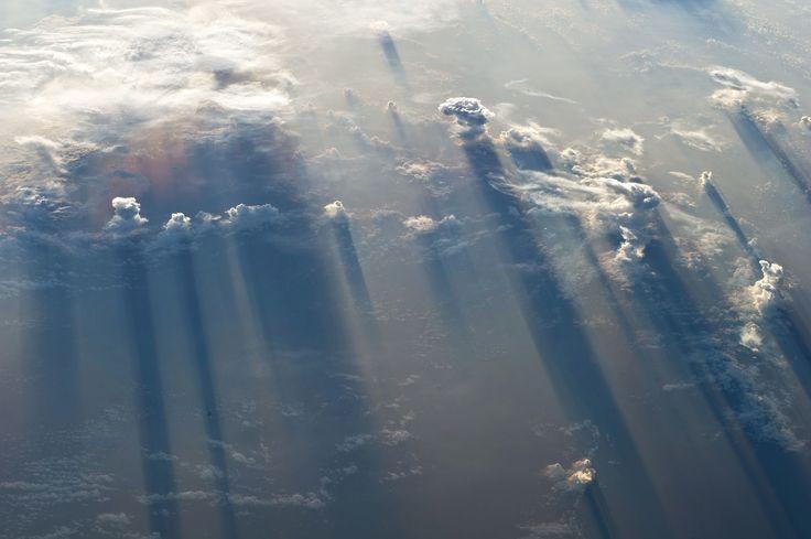 Clouds shadows. North Pacific Ocean