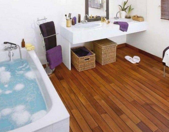 Solid Wood Floor In Bathroom In 2020 Wood Floor Bathroom Elegant Bathroom Hardwood Floors In Bathroom