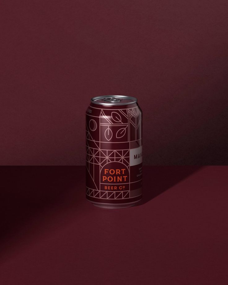 Fort Point Beer Co. by Manual, United States. #craft #beer #packaging