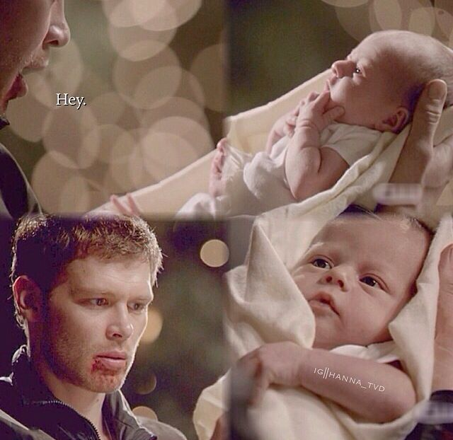 Klaus holds his daughter for the first time. So sweet! I'm crying right now!!!! Seriously!!! I don't cry but this one is a waterfall for me :')