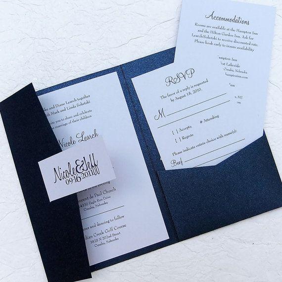 The Sandy Pocketfold Invitation - 25 invitation sets