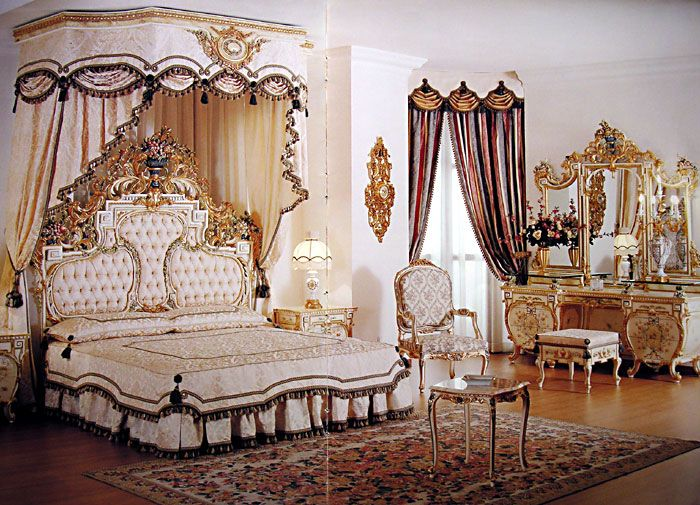 For marie old world baroque french and rococo design for Gorgeous bedrooms