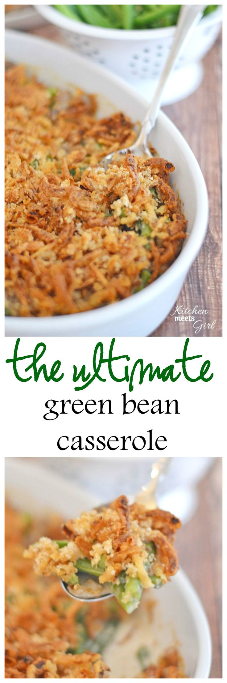 This Ultimate Green Bean Casserole is a fresh spin on the classic, using fresh mushrooms and cream to replace the traditionally used canned condensed soup. Believe me, this version is worth a bit of extra work!