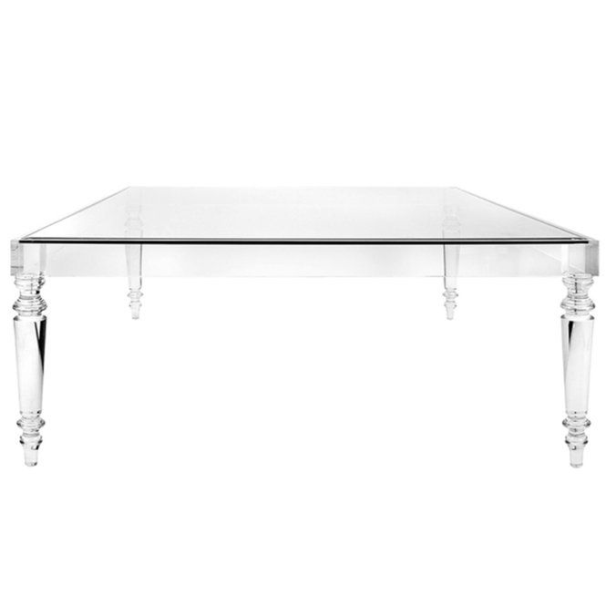 Melrose Modern Acrylic Coffee Table Acrylic Coffee Table Square