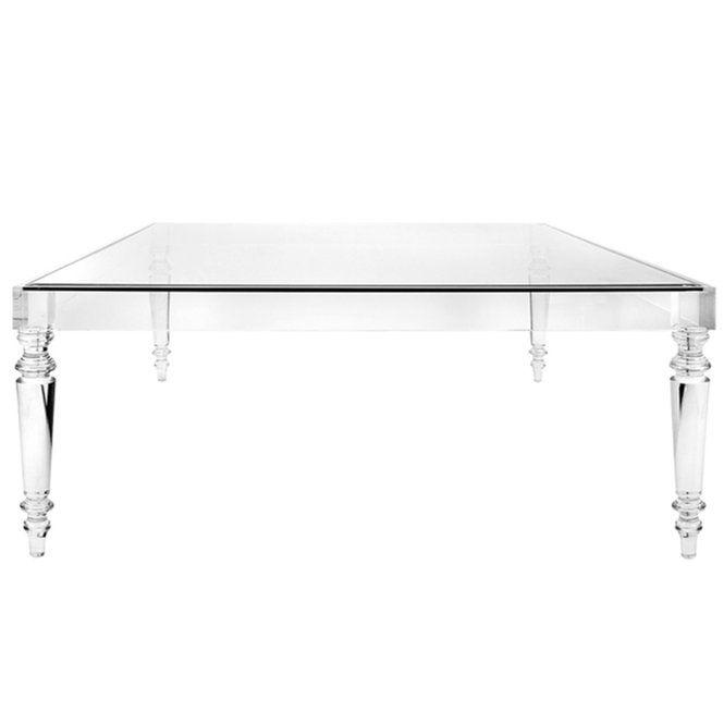 Melrose Modern Acrylic Coffee Table Coffee Table Design Glass