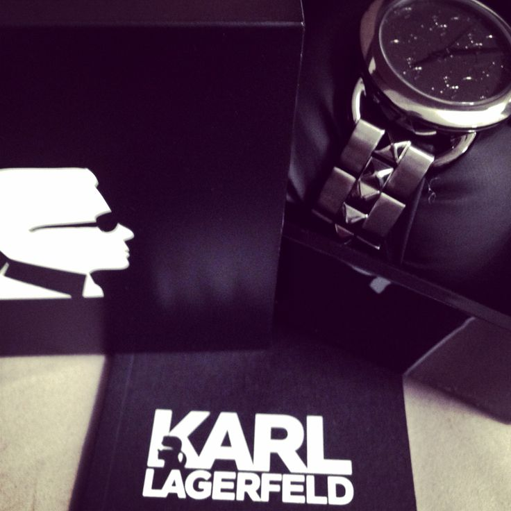#KarlLagerfeld watch...
