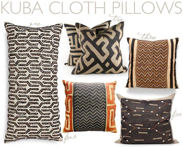 Kuba Cloth pillows via @Carrie Mcknelly Mcknelly Mcknelly Mcknelly Kwinter Kween & kind | krista nye schwartz