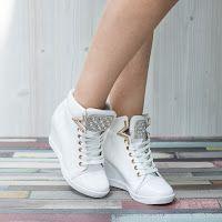 Sneakers dama Jardine albi confortabili • modlet