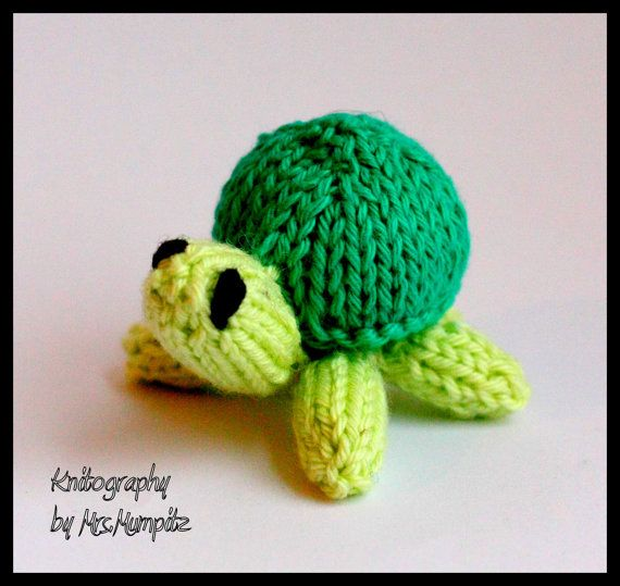 Mini turtles Knitting pattern PDF for beginners and ...