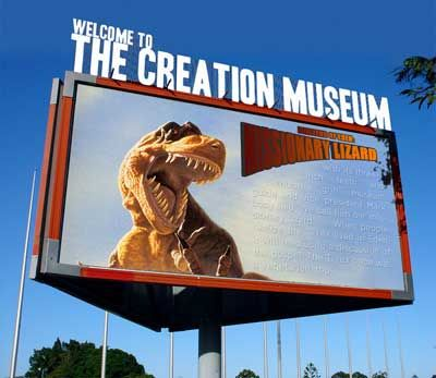 Creation Museum.  LOVE this place.  It's in Kentucky and is part of Answers in Genesis Ministries (Ken Ham).