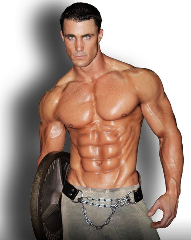 Greg Plitt ... beautiful body ... died trying to outrun a train, on foot, between the rails to promote an energy drink ...  not smart but he is gorgeous