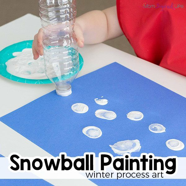 Winter Art Project For Kids Snowball Painting Toddler Art