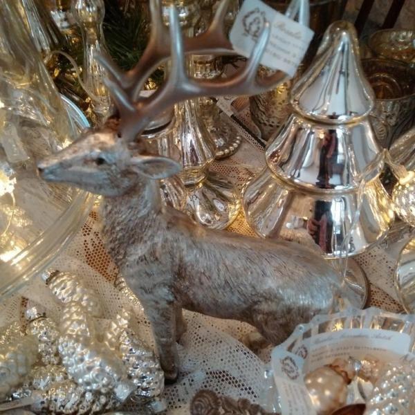 Hirsch Silber... letzter im Laden vorhanden! Spitzen/ Körbchen creme/ Facettierter Spiegel silber/ Alte Spitze... Shabby Vintage Antik in Kitzingen byROSALIE...seit2011' immer FR. / SA. und Ihr Wunschtermin! Kommen staunen