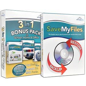 Summitsoft Multimedia PC Software Bundle - LogoDesign Shop, Present it!, 1500 Fonts, & SaveMyFiles  Deal