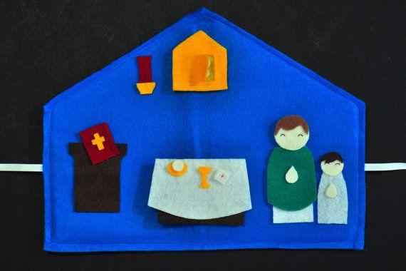 Catholic Mass Felt Play Set by juniperplum on Etsy