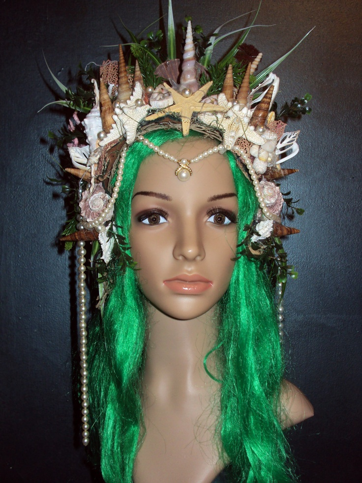 Sea Witch Ocean Queen Siren Goddess Mermaid  Enchantress Wedding Renaissance Headdress Headpiece