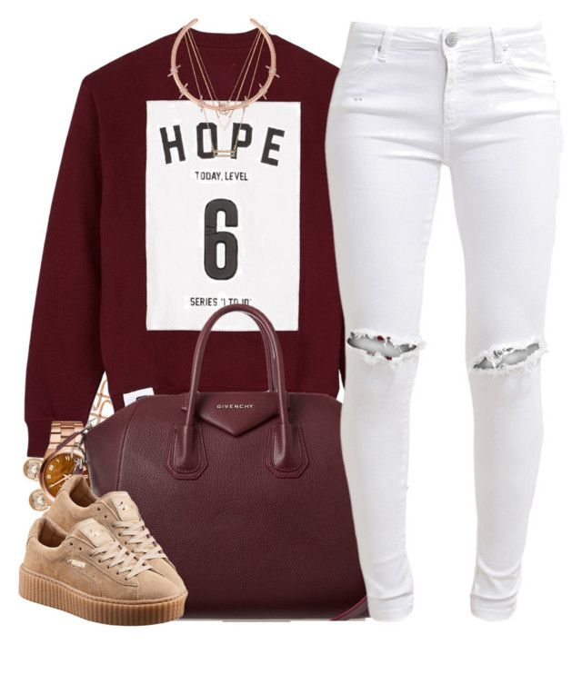 """""""Good Vibes"""" by oh-aurora ❤ liked on Polyvore featuring Fallon, Michael Kors, Studio Concrete, Givenchy, FiveUnits and Forever 21"""