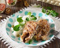 Saumon en croûte au chorizo, parmesan, noisettes fait maison
