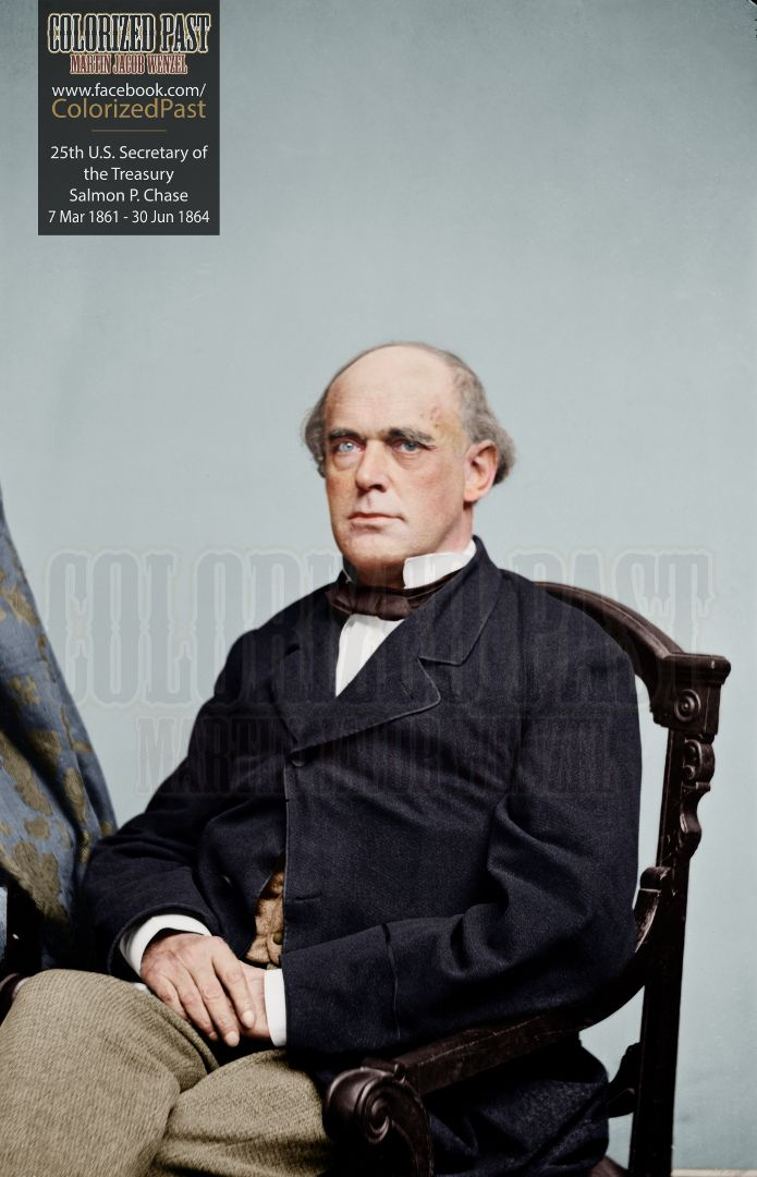 Secretary of the Treasury Salmon P. Chase (USA)