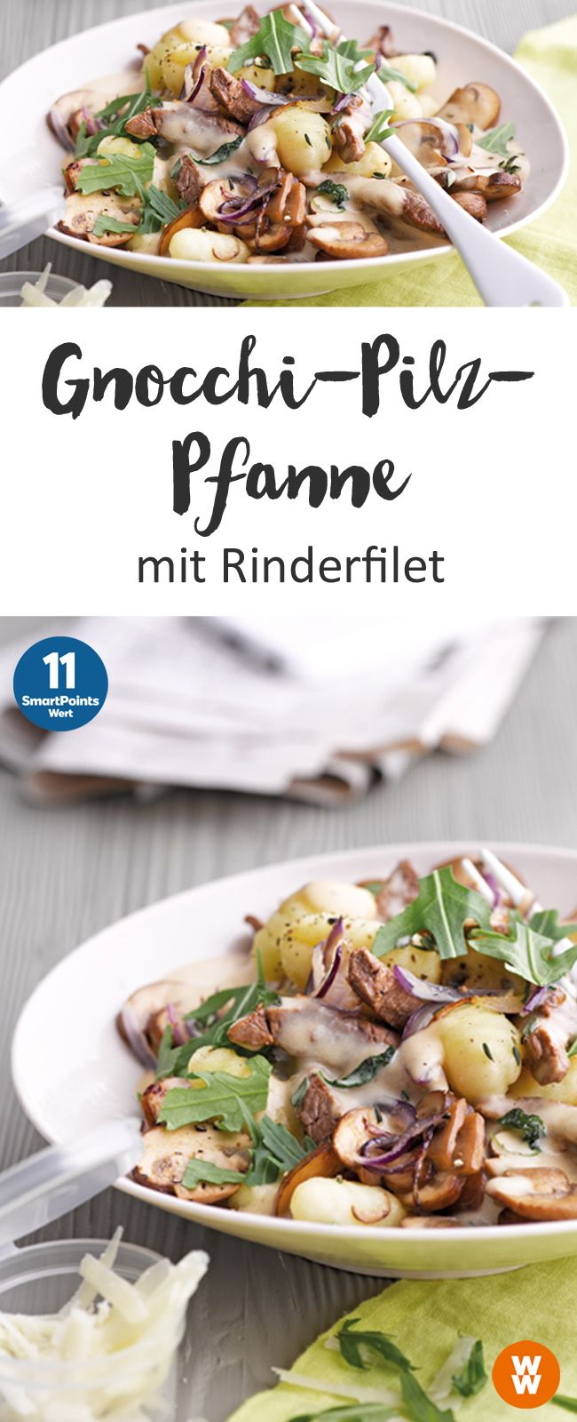 Gnocchi-Pilz-Pfanne | 11 SmartPoints/Portion, Weight Watchers, fertig in 30 min.