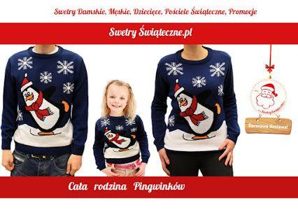 Jak Wam się podoba taki pomysł na #Święta? Całej rodzinie pingwinków ubranej w nasze ciepłe #swetry na pewno nie będzie chłodno w długie zimowe wieczory.