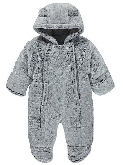 Faux Fur Hooded Snowsuit, read reviews and buy online at George at ASDA. Shop from our latest range in Baby. Your little one will be as cosy as can be when t...