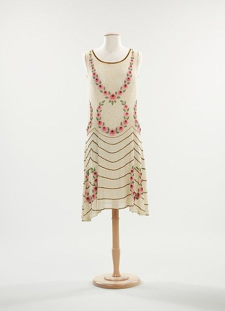 Evening dress, ca. 1925. French.