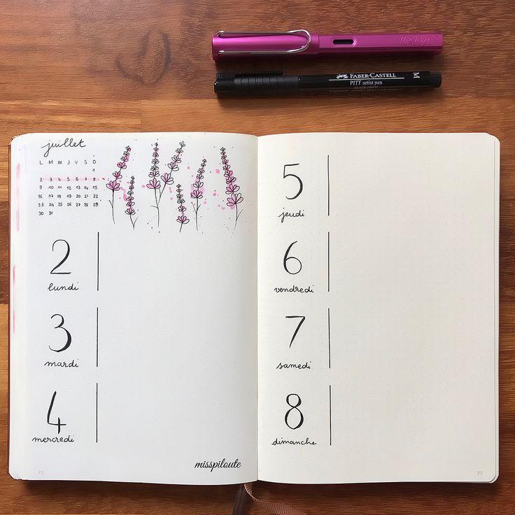 """ραυℓιиє on Instagram: """"Very simple weekly! Layout inspired by @bu.jour…"""