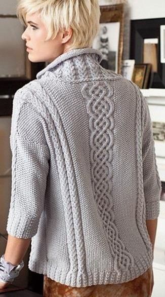 Вязка свитеров женских с большим горлом схема вязания