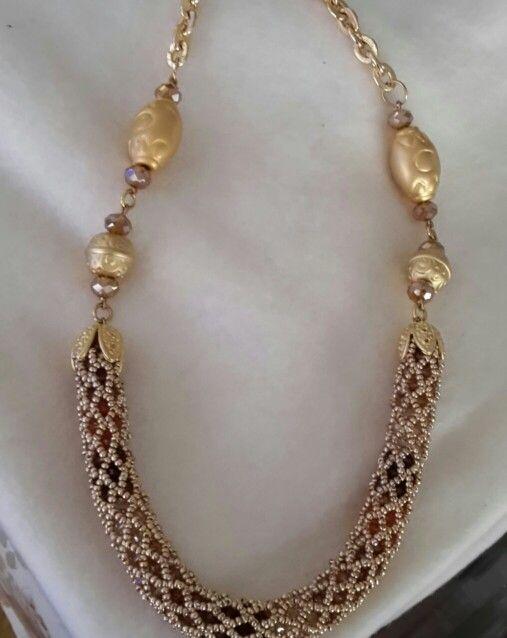 Swarovski necklace beaded by Emel Bas from Turkey
